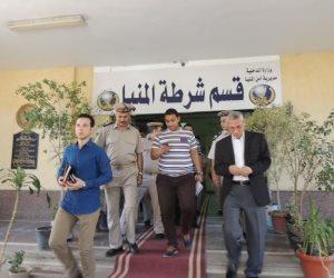 مدير أمن المنيا يتفقد إدارة الترحيلات والسجن العسكري