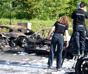 احتراق عدد من سيارات «بورش» خلال مظاهرات ضد قمة مجموعة العشرين