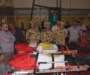 تشييع جثامين شهداء رفح في جنازة رسمية وشعبية مهيبة بالدقهلية