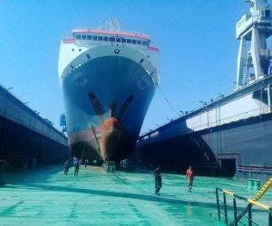 سفينة «الحرية 2» في ضيافة ترسانة بورسعيد البحرية للصيانة (الصور)