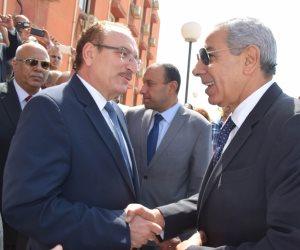 محافظ بني سويف يستقبل وزير التجارة والصناعة