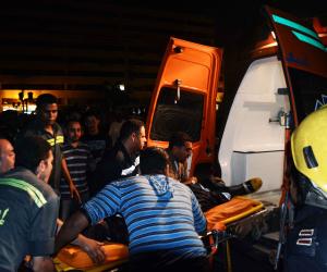 مصرع شخصين وإصابة 4 آخرين في حاث تصادم سيارة نقل وأتوبيس في بني سويف
