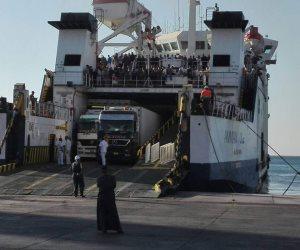 وصول وسفر 4 آلاف و 748 راكب لموانئ البحر الأحمر وتداول 438 شاحنة