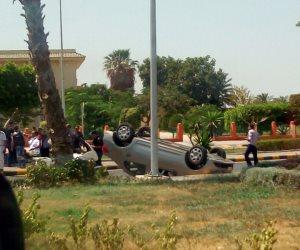 مصرع شخص وإصابة 3 أخرين إثر انقلاب سيارة بطريق «قنا - سفاجا»
