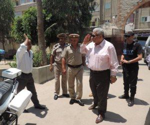 مدير أمن البحيرة يتفقد المواقع الشرطية بمركز أبو حمص (صور)