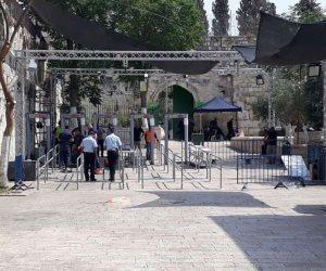 بحراسة شرطىة الاحتلال الإسرائيلي.. 112 مستوطنا يقتحمون باحات الأقصى