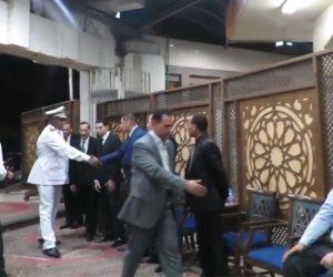 نجوم المجتمع والمشاهير في عزاء جمال طلعت السادات (فيديو)