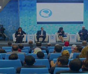 جلسة نموذج محاكاة الدولة بمؤتمر الشباب بحضور عمر مروان وأسامة الأزهري (صور)