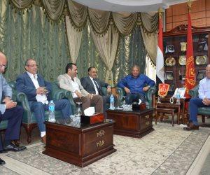 وزير الرياضة يلتقى محافظ بورسعيد قبل زيارة القرية الأوليمبية بالمحافظة