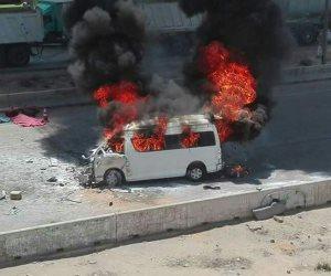 أمن القاهرة: ضبط سائق أشعل النيران في ميكروباص ربة منزل