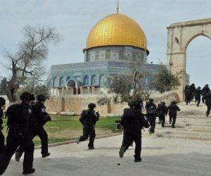 المستوطنين الإسرائيليين يستبيحون ساحات الأقصى في حراسة قوات الإحتلال