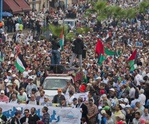 تظاهرات للشعب الفلسطيني في قطاع غزة تأييدًا لمصر وجيشها