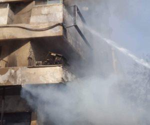 السيطرة على حريق داخل شقة سكنية بالبساتين دون اصابات