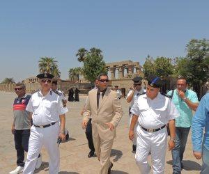 بالصور.. مدير أمن الأقصر يتفقد خدمات تأمين معبدي الكرنك والأقصر ومسجد أبوالحجاج