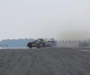 سائق يفقد السيطرة على نيسان GT-R بقوة 2000 حصان (فيديو)