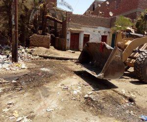 رفع 100 طن قمامة بقرية الواسطي في أسيوط