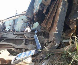 رسم كروكي لوضع عربات قطاري 13 و571 بعد حادث التصادم أمس بمحطة خورشيد  (صورة)