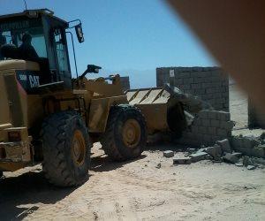 حملة مكبرة بطور سيناء لإزالة 2000 متر بوادي ميعر بقرية الوادي