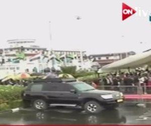 استقبال شعبى للرئيس السيسي بتنزانيا (فيديو)