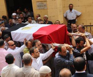 محافظ المنوفية ومدير الأمن يتقدمان جنازة الشهيد ملازم أول تامر عبدالحافظ (صور)
