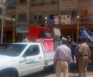 مواجهة إشغالات ورفع كفاءة الشوارع في حي الهرم