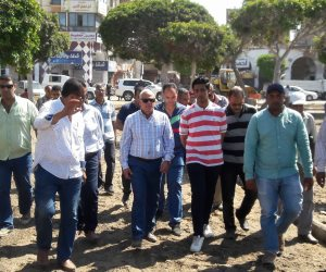 محافظ بورسعيد يتفقد أعمال تطوير حديقة سعد زغلول (صور)