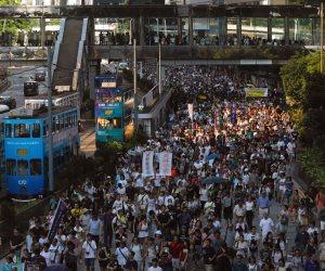"""تظاهرة فى هونج كونج احتجاجا على اعتقال قادة """"ثورة المظلات"""""""