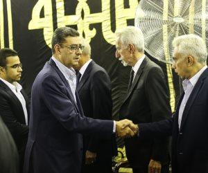 وصول محمود طاهر وفؤاد بدراوي عزاء رفعت السعيد