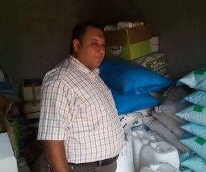 ضبط 23 طن مواد زراعية مجهولة المصدر فى مصنع بدون ترخيص بمركز بدر فى البحيرة (صور )