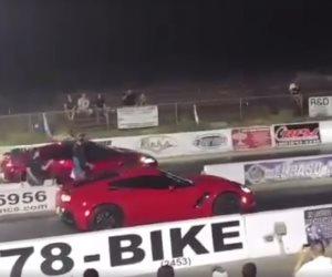 فيديو لسباق شوارع يؤدى للقبض على 4 لصوص سيارات (فيديو)
