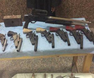 ضبط 6 أسلحة نارية و 19 قضية مخدرات خلال حملة أمنية بالجيزة