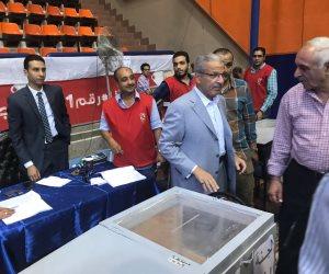 انتخابات الأهلي .. السفير السعودي في القاهرة يدلي بصوته