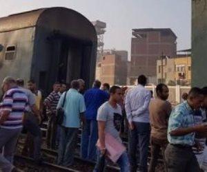 توقف حركة القطارات بمحطة بنها بسبب عطل فني بقطار القاهرة الإسكندرية