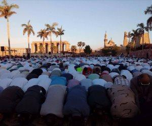 أهالي القليوبية يؤدون صلاة عيد الأضحى المبارك في 358 ساحة (صور)