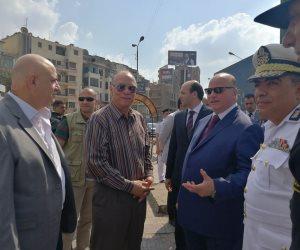 محافظ القاهرة يتفقد أعمال هدم مثلث ماسبيرو