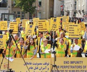 مظاهرة حاشدة للمعارضين الإيرانيين بلندن