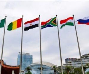 علم مصر يتوسط دول مجموعة قمة «بريكس» ويرفرف عاليا بحضور الرئيس السيسي