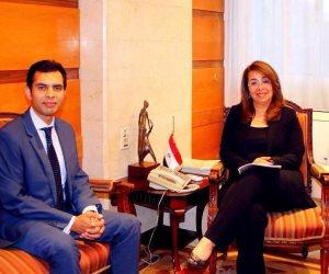 غادة والي تستقبل مدير مكتب صندوق النقد الدولي في مستهل عمله بمصر