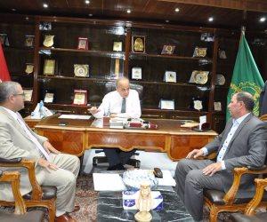 محافظ القليوبية يبحث مع مندوب حاكم الشارقة إنشاء مستشفى الحروق بالقناطر الخيرية
