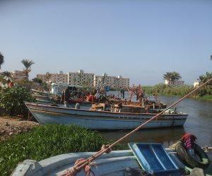 غلق مينائى البرلس ورشيد وتوقف حركة الصيد