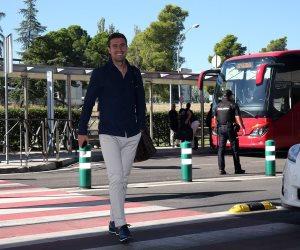 بعثة أتليتكو مدريد تتجه إلي إيطاليا لمواجهة روما بدوري الأبطال (صور)