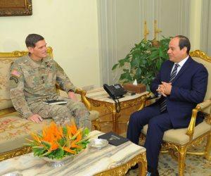 الرئيس السيسي يؤكد على أهمية العلاقات العسكرية بين مصر والولايات المتحدة