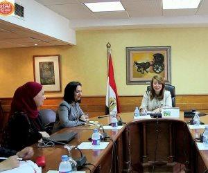 غادة والى ومايا مرسي يستعرضا إنجازات مشروع «تدريب المرأة المهمشة»