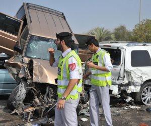 إصابة 9 أشخاص فى حادث انقلاب سيارة ميكروباص جنوب الاقصر