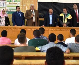 جولة تفقدية مفاجئة لرئيس جامعة السادات للمدن الجامعية
