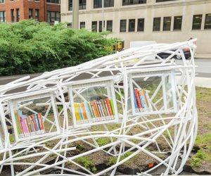 9 مكتبات مجانية بتصميمات فنية لجذب القراء ومحو الأمة في الولايات المتحدة (صور)
