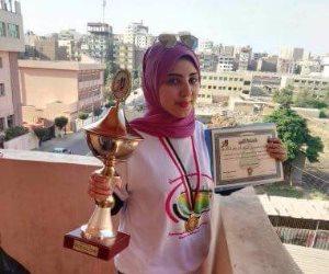 روان أبو شيته سيناوية تفوز بالمركز الأول بمسابقة الطالب المثالى على مسستوى الجمهورية