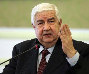 """وزير خارجية سوريا: محاربة الإرهاب بدون موافقة حكومتنا تعد """"عدوانا"""""""