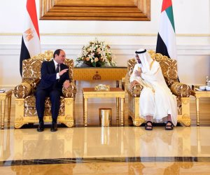 «بن زايد» في استقبال السيسي: مصر ركيزة أساسية للأمن والاستقرار بالوطن العربي