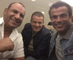 ضحكة محمد لطفي مع الهضبة وحمادة إسماعيل